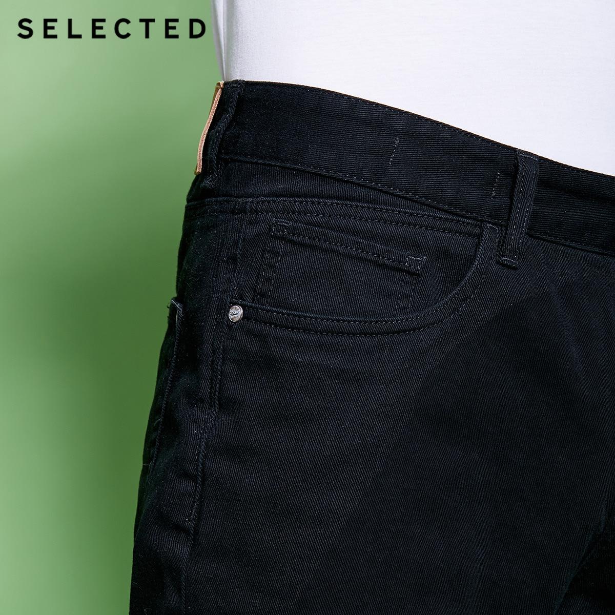 Image 3 - SELECTED Mens Spring 10% Cotton Black Washed Finish Denim Shorts C4182S3517Casual Shorts