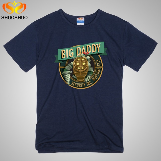 Custom Tee Shirts Near Me Big Daddy Bioshock Rapture Elizabeth ...