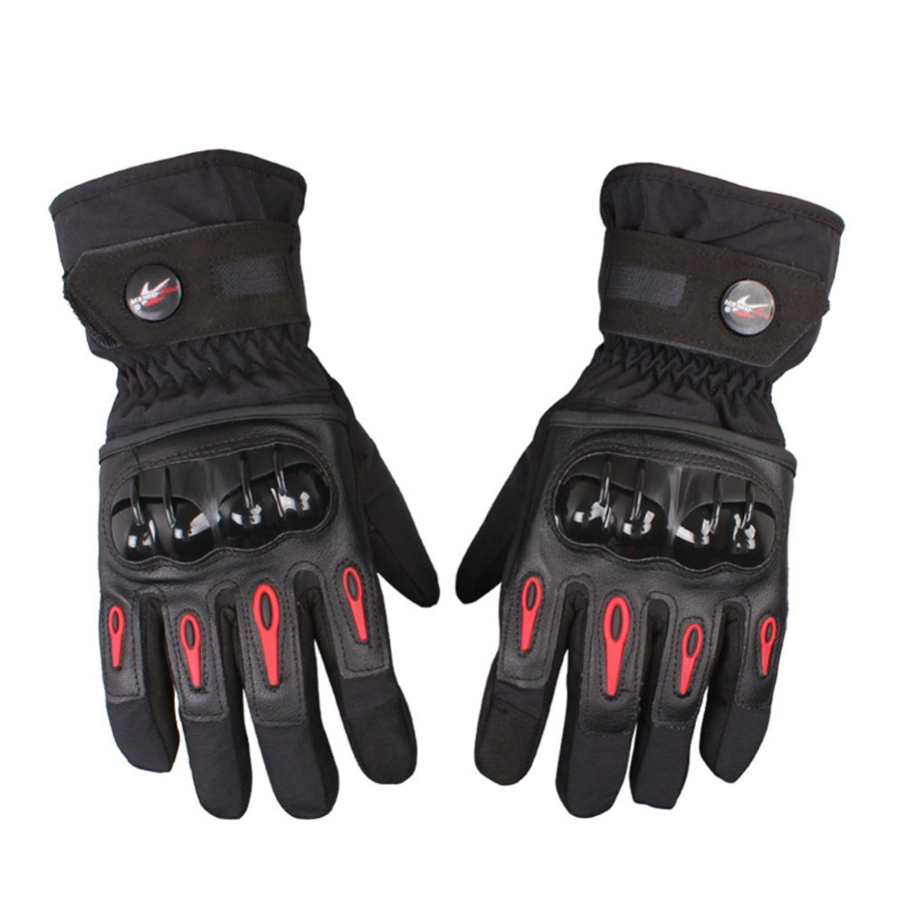 Motorcycle leather gloves india - Waterproof Full Finger Pro Moto Motorcycle Gloves Windproof Motorbike Glove Luvas Cycling Racing Sport Guantes De