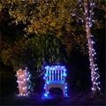 2016 nuevo Azul 17 M 100 LED Luces de la Secuencia Solar Luces de Hadas del Jardín Del Banquete de Boda Al Aire Libre