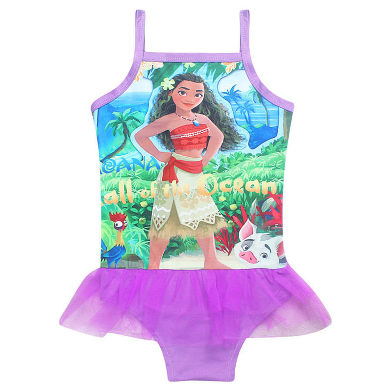 Ainiel  Robe Baby Cosplay Costume Swimsuits Kids Moana Bench Summer Short Sexy Dress costumes Party For Kid Girl