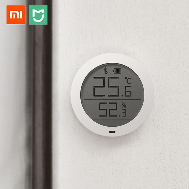 xiaomi mijia bluetooth hygrothermograph high sensitive hygrometer thermometer lcd screen smart. Black Bedroom Furniture Sets. Home Design Ideas