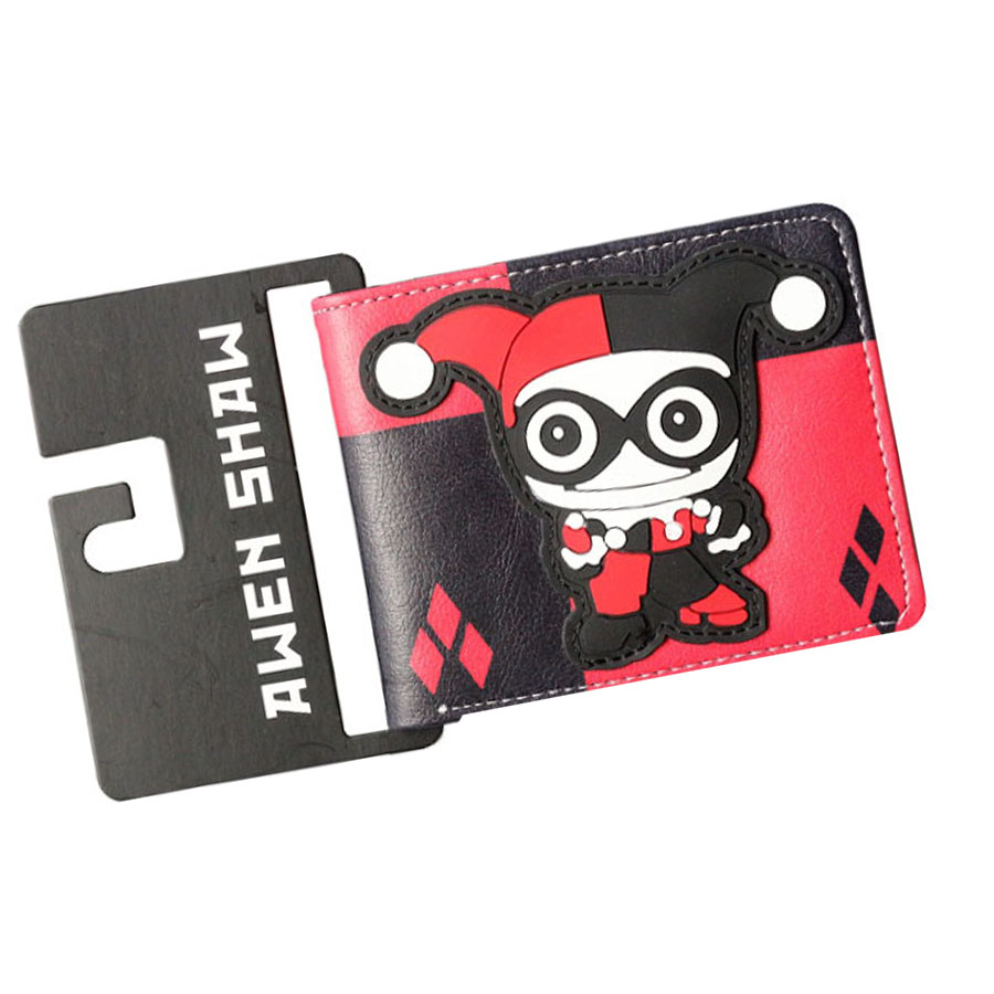 American DC Harley Quinn Anime Wallets Mens Wallets Women Slim Leather 3D Wallets Money Balsos Coins Zipper Pockets Cards Holder mens distressed jeans ripped jumpsuit denim overalls men baggy cargo pants with suspenders denim bib overalls for men 260