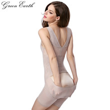GreenEarth Mulheres Floral Bodysuits Shapewear Plus Size Corpo Espartilhos Cintura Fivela de Alta-elástico