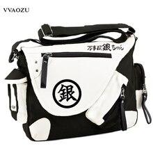 Schoolbag Messenger-Bag Canvas Silver Gin Unisex Satchels Cartoon Tama Soul Cosplay Large-Capacity