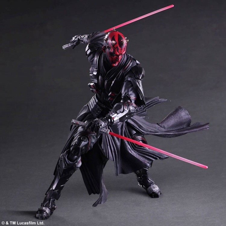 цены  Star Wars Play Arts Kai Darth Maul 28cm PVC Action Figure Collection Toy Doll marvel movie anime figure action model toys 10A