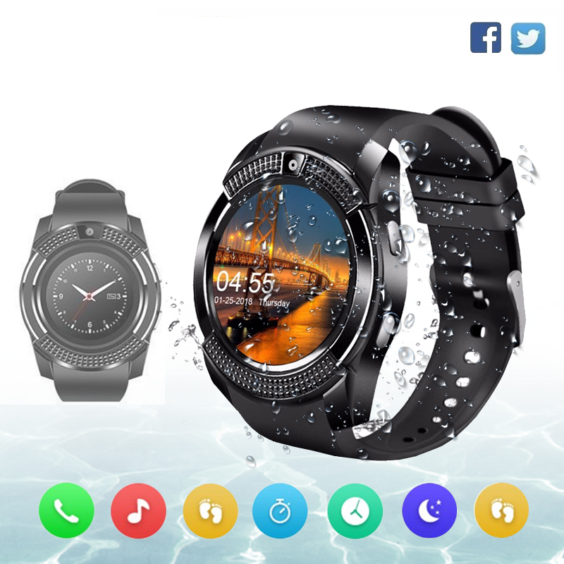 Smart Watch Clock V8 With Sim Card Slot Push Message Bluetooth Connectivity Android Phone Sport Waterproof Smartwatch Men Watch стоимость