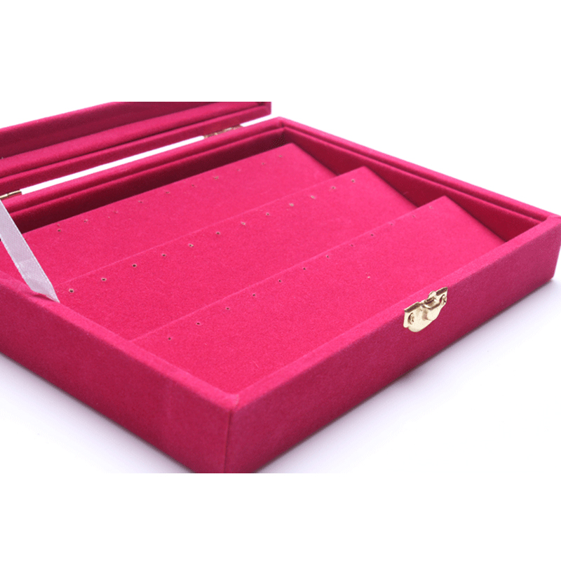 New Fashion Rose Red Color Jewelry Organizer Case Jewelry Display