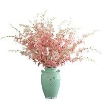 1 adet yüksekliği kaliteli yapay ipek çiçekler dendrobium orkide flores diy zanaat çiçek dekorasyon ücretsiz kargo 0726 için
