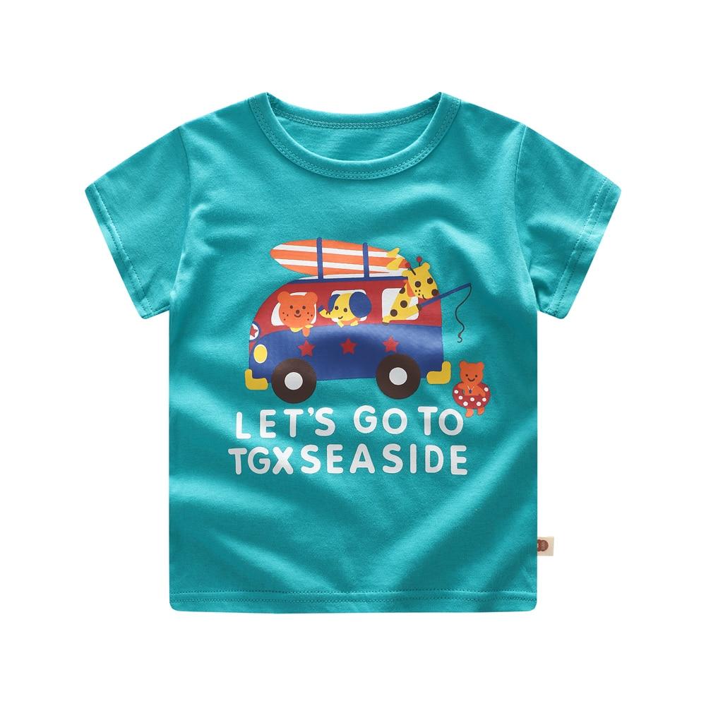 Летняя детская футболка для детей, футболка для мальчиков с героями мультфильмов, одежда подарок на день рождения, одежда для детей от 3 меся...