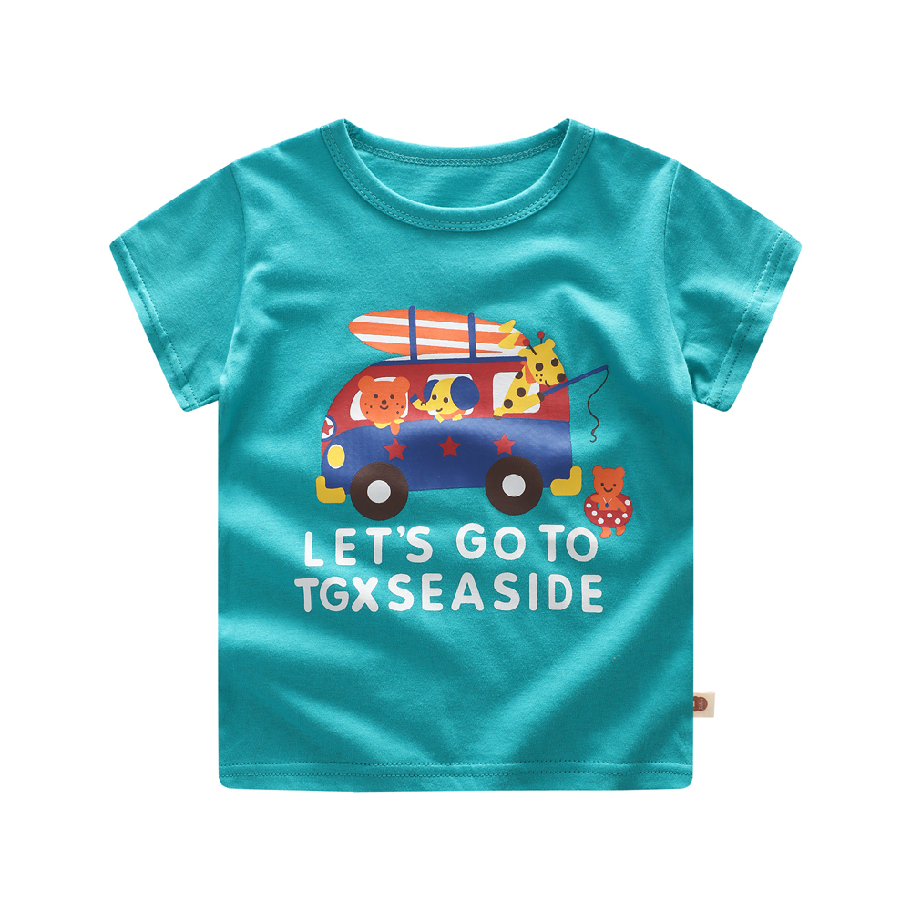 Summer Kids T shirt For Baby Children T-shirt Cartoon for Boys Tees Clothes Birthday Gift baby Clothing 3 months -3 years old boys clothing set summer clothes baby cotton outfits children t shirt shorts 2 pcs suit kids cartoon casual costume 3 years