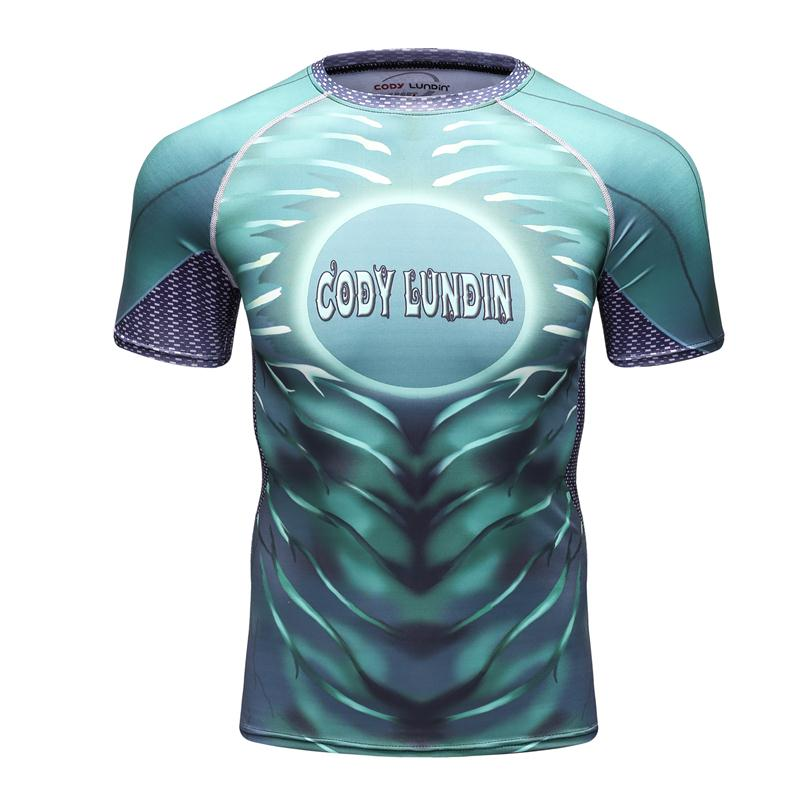 2018 CODY LUNDIN Green Lantern 3D Printed T shirt Men Compression Short Sleeve Tops MMA Fitness Bodybuilding Camisetas Hombre Sh