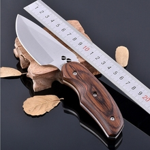 Full Length 19.5cm Mini Portable Outdoor Knife for Hunting Climb Stainless Steel Fixed Blade Knives
