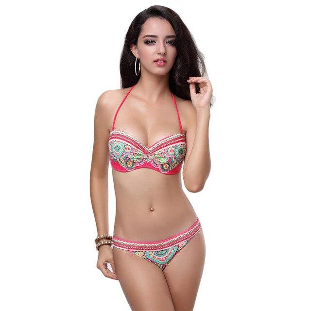 Young Junior Girls Print Flower Super Push Up Sexy Bikini Set Drop Shipping Summer Beachwear Bathing Suit  S M L biquines