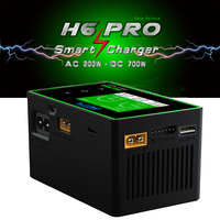 H6 PRO Lipo Battery Charger Smart Fast Portable AC DC Intelligent High Power Model Car Lipo Life Built in Power Supply