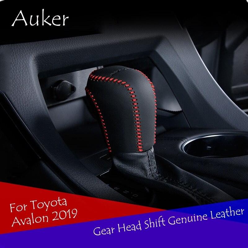 Auto Getriebe Kopf Schaltknauf Abdeckung Getriebe Shift Fall Leder Abdeckung Auto Styling Für Toyota Avalon 2019