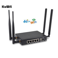 KuWFi 4G LTE Wireless Router OpenWRT 300Mbps Wireless Wifi Router With Sim Card Slot 4ps External Antenna Strong Wifi Signal(China)