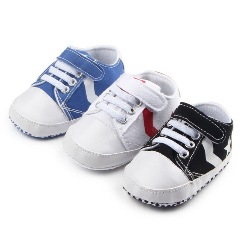Baby Moccasins Infant Anti-slip Canvas First Walker Comfortable Soft Soled Newborn Sneakers Baby Shoes 0-1 Years
