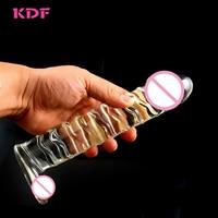 Oversized Crystal Glass Dildo Artificial Penis Vibrator Sex Products Giants Glass Masturbation Male Female Sex Toy Masturbation