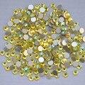 Citrine AB ss3, Ss4, Ss5, Ss6, Ss8, Ss10, Ss12, Ss16, Ss20, Ss30 cristal de volta plana não Hotfix Nail Art cola em strass