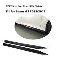 Carbon Fiber Side Skirts body kit Sticker Aprons For Lexus GS 2012 2015 2PCS/Set