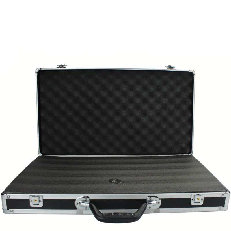 58x32x9cm Aluminum Alloy Toolbox Outdoor Safety Equipment Box Impact Resistant Instrument Box Suitcase With Pearl Cotton