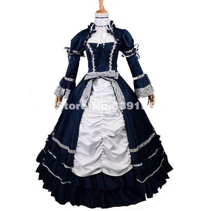 High Quality Halloween Victorian Dress Southern Belle Formal Period Dress Vampire Gothic Ball Gown Reenactment Theatre Costume