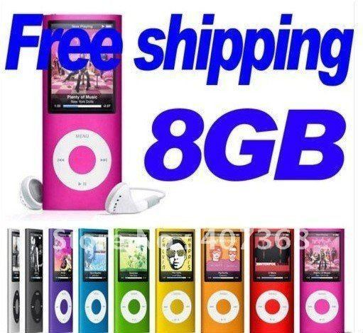 Dropship! Free shipping 8GB Slim MP4 Player 1.8 inch TFT Screen MP3 Player MP4 Player FM REC