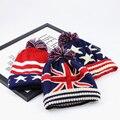 El otoño y el invierno nueva lana de punto sombrero M palabra bandera raya engrosamiento sombrero caliente de las lanas WY