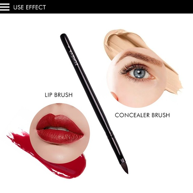 Cepillo corrector de pelo de nailon brocha de labios de fibra artificial maquillaje herramientas de belleza diosa encantadora Q1