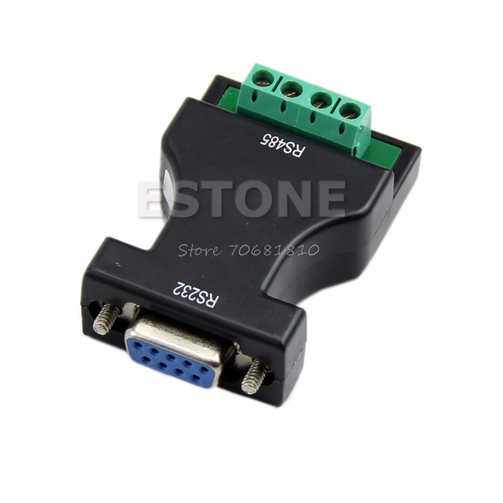 New RS-232 RS232 to RS-485 RS485 Interface Serial Adapter Converter #R179T#Drop Shipping rs232 to rs485 passive interface converter adapter data communication serial 61516