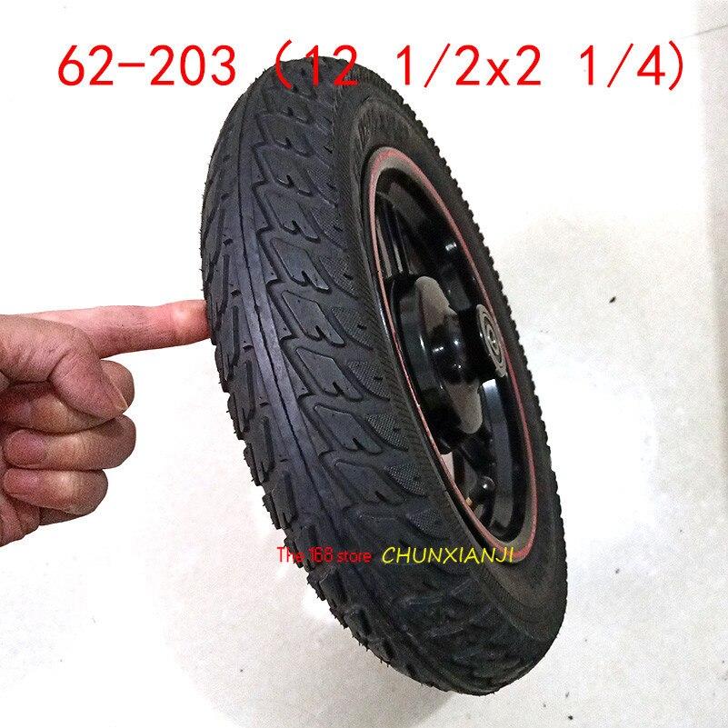 62-203 12 1/2x2 1/4 roues 12 pouces roue moyeu jante scooter électrique pliant vélo électrique pneu et tube anti-déflagrant