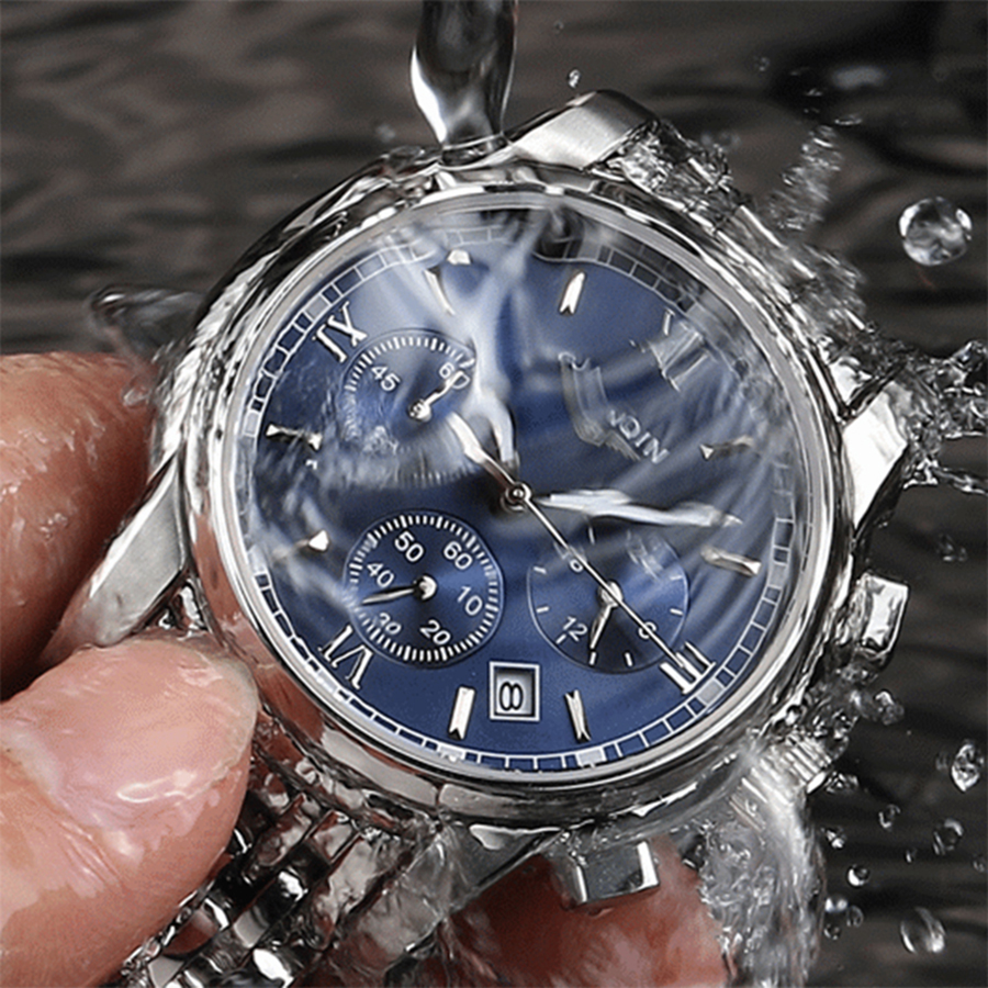 Image 4 - GUANQIN NEW Relogio Masculino Mens watches Top Brand Luxury Quartz business Chronograph Watch Swimming Wristwatch relojes hombre-in Quartz Watches from Watches