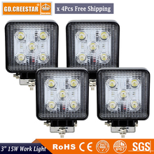 15W Offroad LED Work Light 12V 24V Car Motorcycle Truck SUV Bicycle ATV 4X4 4WD AWD UTE Tractor Trailer Headlight Fog Lamp x4pcs