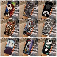 MaiYaCa The Nightmare Before Christmas Jack Skellington and Sally phone cases For iphone 7 7plus X 8 8plus 6s 6 6plus 5 5s 5c the nightmare before christmas sally jack skellington dr finkelstein santa multilayer colorful pu short wallet type a