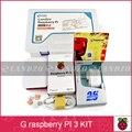 G kit raspberry pi-Pi Frambuesa 3 Tablero 5 V 2.5A fuente de Alimentación + caso + Disipador de Calor Para Raspberry Pi 3 Modelo B wifi y bluetooth