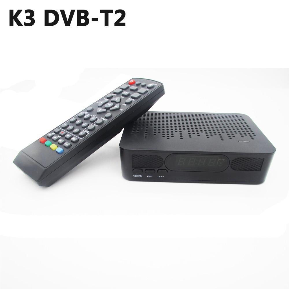 K3 DVB-T2 DVB-T Satellitenempfänger HD Digital TV Tuner Rezeptor MPEG4 DVB T2 H.264 Terrestrischen Fernsehempfänger DVB T Set Top Box