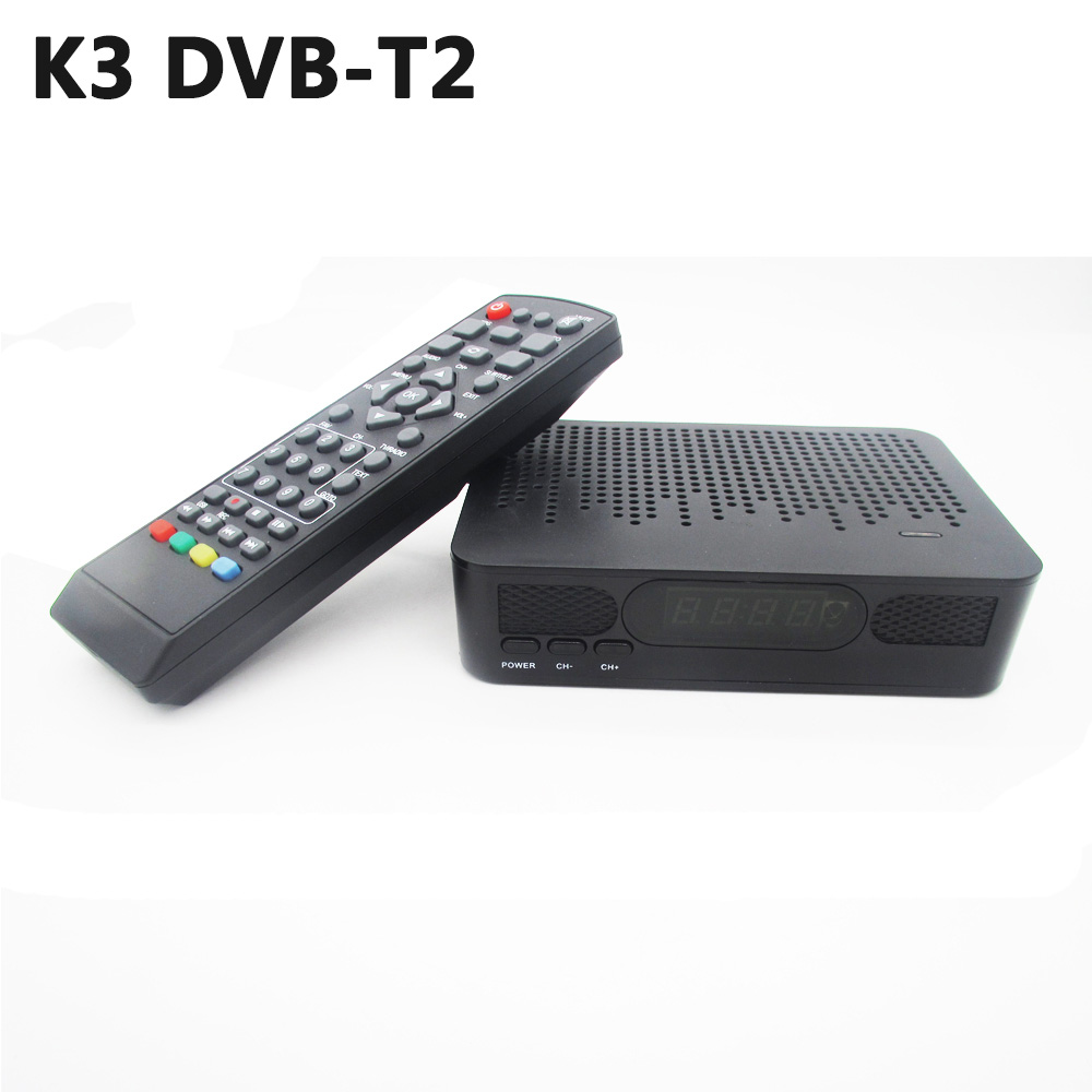 K3 DVB-T2 satélite DVB-T HD sintonizador de TV Digital Receptor MPEG4 DVB T2 H.264 terrestre TV DVB T conjunto top Box