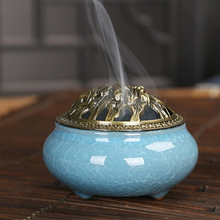 Antique Vaporisation Ceramic Incense Burner Dongzhong Style Censer Creative Buddha accessories Fashion Home Decor