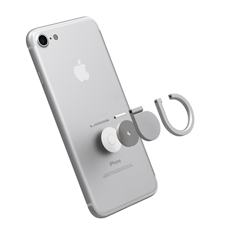 Stand Holder Ring For iPhone 7 6 6S 8 SE 360 Rotatable Universal Mobile phone Accessories Case Cover Metal Bracket for Samsung
