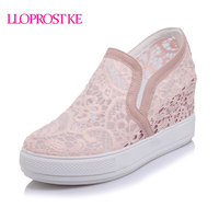 Lloprost ke elegant loafers shoes women casual lace round toe shoes woman fashion sweet platform increasing.jpg 200x200