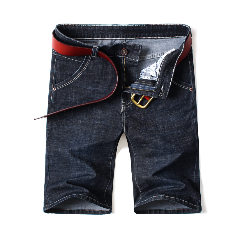 Men Jeans Clothing Shorts Stretch Men's Casual Cotton Denim Large-Size Summer New Man
