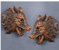 art Deer head creative Wolf wall act role ofing hang animal sitting room metope retro stereo car-styling clipper special hang