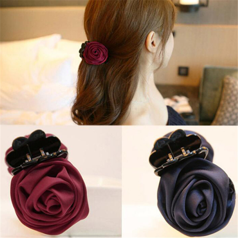 Multicolor Pink Hairpin Flower Fabric Take Clip Jewelry Fashion Accessories For Hair Hair Clips Tools For Hair Care