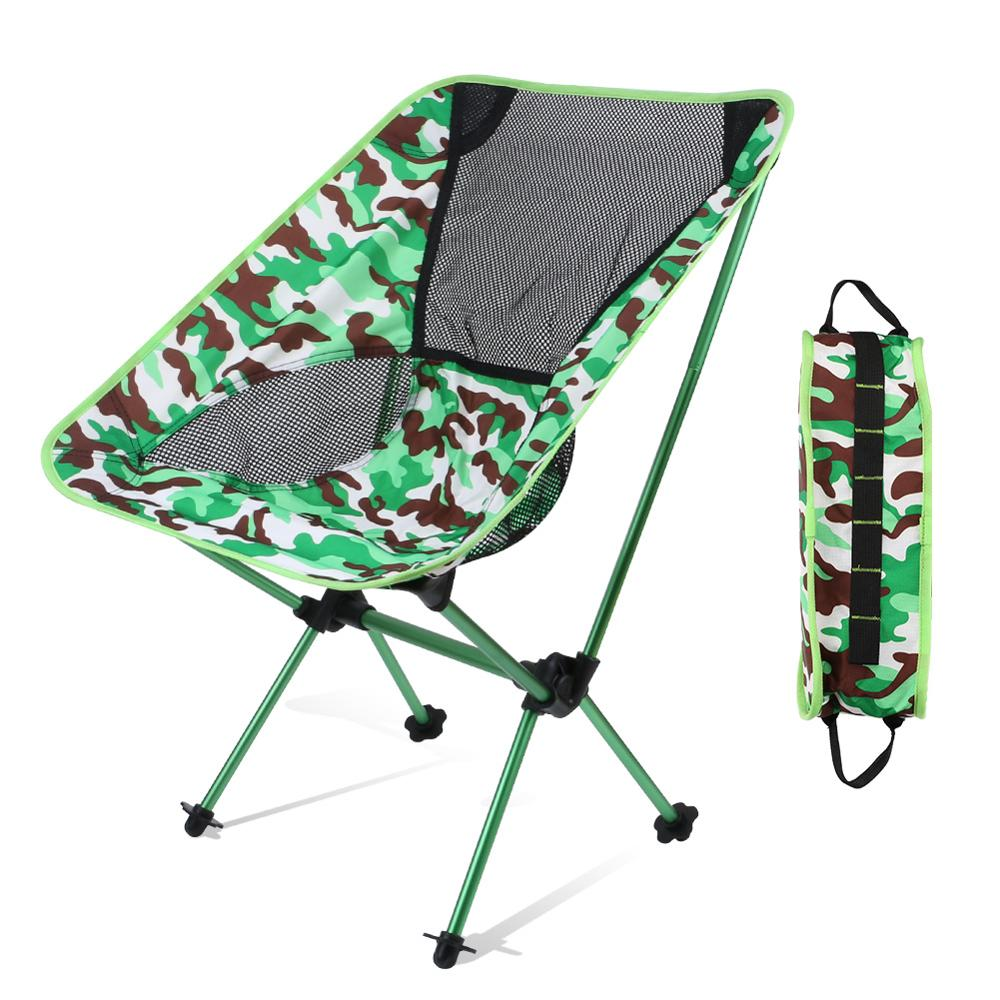 Portable Folding Beach Chair Outdoor Extensible Camping Fishing Chair Garden Picnic Chair Outdoor Furniture With Storage Pouch