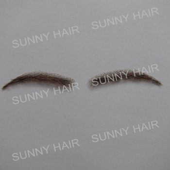 0117 hand made human hair hand knot fake eyebrow