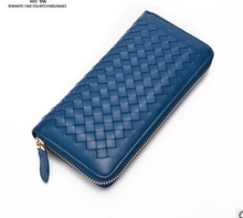 2017 Japan and South Korea new Ms. wallet sheepskin woven long leather wallet female hand bag