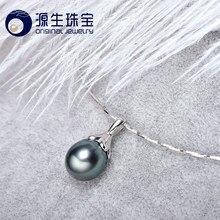 9b4763995890  YS  últimas diseños pendientes plata esterlina 925 9-10mm Natural Tahitian  perla colgante