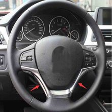 ABS Steering Wheel Frame Cover Trim font b car b font accessories For BMW 3 SERIES