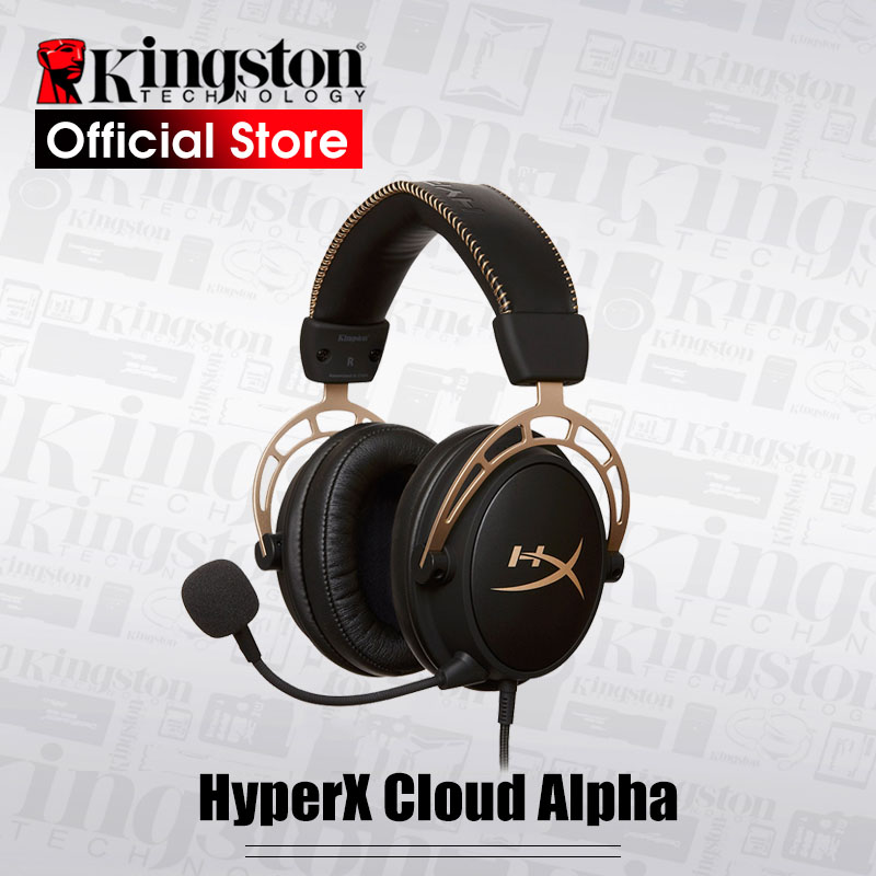 Kingston E-sports headset HyperX Cloud Alpha Gaming Headset Black Gold Limited Edition With a microphone For PC PS4 Xbox Mobile need for speed rivals limited edition игра для xbox one